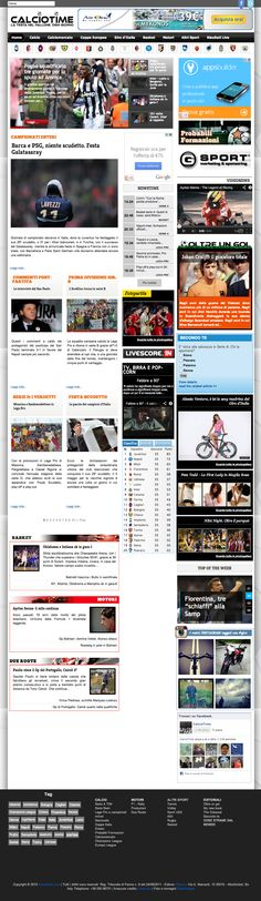 Sito web di informazione e news per la testata giornalistica Calciotime.com - HomePage - Realizzato con Joomla 2.5 e K2- Anno 2013