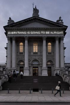 Martin Creed, lives and works in London, Work 289, Everything is going to be alright. Contemporary Art Blog