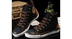 dc48116e358c discount Converse Shoes Black Chuck Taylor Vampire Mens Womens Canvas  amp  Leather  Sneakers Hi