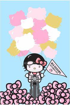Hello Kitty / Harley Davidson themed baby shower
