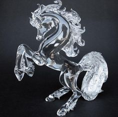 crystal blown glass figurines -