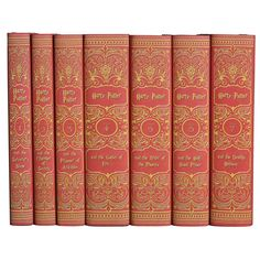 Not only do I loveeeeeeee these books, and have read them all at least twice, this particular set of the series is so beautifully bound! I'd love for it to be mine!