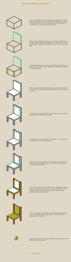 How to make a pixel chair by vanmall on deviantART