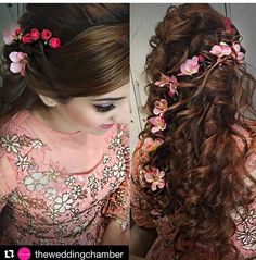 Bridal headpiece updo hairdos 18 ideas for 2019 Bridal Hairstyle Indian Wedding, Bridal Hairdo, Hairdo Wedding, Long Hair Wedding Styles, Indian Wedding Hairstyles, Short Hair Styles, Open Hairstyles, Pinterest Hair, Flowers In Hair