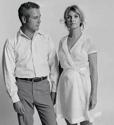 Paul Newman and Joanne Woodward photographed by Lawrence Schiller in Los Angeles, 1967