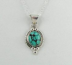 Authentic Native American Navajo  Sterling Silver Spiderweb pendant