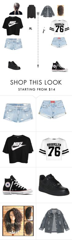 """j&m summer style#1"" by merel-meuleman ❤ liked on Polyvore featuring rag & bone/JEAN, NIKE, Boohoo and Converse"
