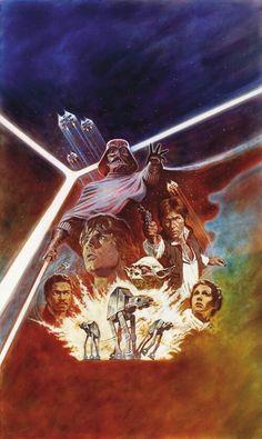 Rare unseen star wars poster art