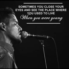 When you were young lyrics.  The Killers, Brandon Flowers