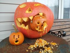 Our Pumpkin Carving for Daily Caption It Oct. 31