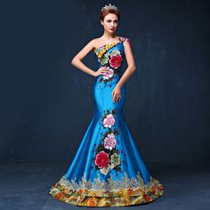 Luxury Zuhair murad evening dresses 2016 long Chinese style embroidery cheongsam dress Praty Gowns mermaid china qipao dress-in Cheongsams from Novelty & Special Use on Aliexpress.com | Alibaba Group
