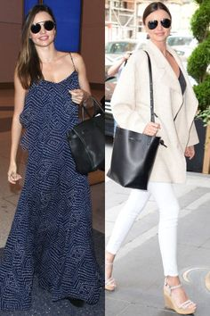Kerr also adopts a similar style to fellow model Alessandra Ambrosio: maxi dresses for the California sunshine and monochromatic separates for hitting the New York City pavement. Star Fashion, Boho Fashion, Fashion 2015, Fashion Beauty, Celebrity Dresses, Celebrity Style, Celebrity Photos, Fashion Competition, Instyle Magazine