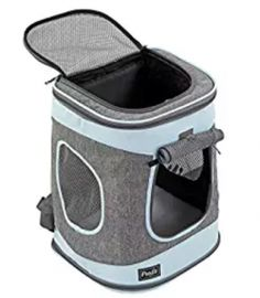Petsfit Comfort Dogs/Cat Carrier Backpack,Hold Pets up to 15 LBS,Go for Walk, Hiking and Cycling (Grey and Blue) H L D - Dog Store Cat Backpack Carrier, Dog Backpack, Cat Carrier, Best Small Dogs, Best Dogs, Cheap Pet Insurance, Dog Insurance, Airline Pet Carrier, Cat Cages