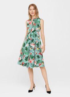 Tropical print dress - Woman | MANGO Finland