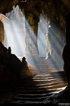Khao Luang Caves, Thailand. A complex of three caves housing numerous Buddha images and pagodas