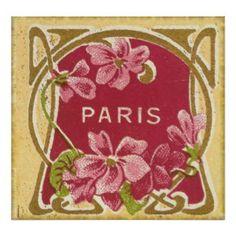 Vintage Paris Perfume Label