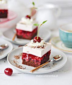 NAJLEPSZE Ciasto WIŚNIOWE z Kremem Jogurtowym - PRZEPIS - MC Cake Recipes, Dessert Recipes, Sponge Cake, Food Cakes, Panna Cotta, Pasta, Sweets, Baking, Ethnic Recipes