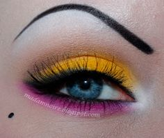 Yellow and pink eyes