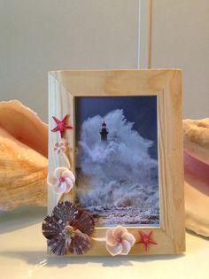 Uniquely hand crafted Shell frame beach decor natical decor mermaid treasures beach wedding gifts ocean decir seashell gifts