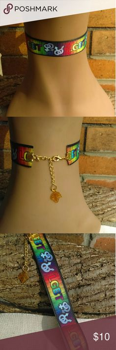 LGBT Community People Choker LGBT Community People Choker Rainbow Colors. Gay Pride. Ready to ship size 14 inch choker with 4 inch extension chain. Gifted wrapped. If you need smaller or larger size please message me when purchasing. Jewelry Necklaces
