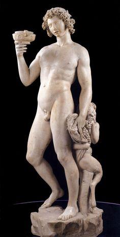 The Drunkenness of Bacchus - Michelangelo (Buonarroti) as art print or hand painted oil. Michelangelo Artist, Michelangelo Sculpture, Miguel Angel, Stone Sculpture, Sculpture Art, Modern Sculpture, La Pieta, Italian Sculptors, Museum Studies