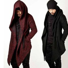 Celebrity Mens Korean Wool Top Coat Hooded Jacket Outwear Long Cape Cloak s 4XL | eBay