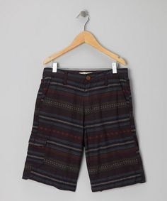 Take a look at this Navy Jaquard Stripe Shorts by 3rd & Army on #zulily today!