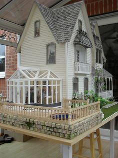 Conservatory and deck
