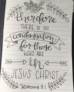 Romans 8:1 Handlettering