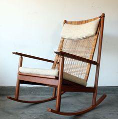 Vintage Hans Olsen Danish Modern Teak Rocking Chair. $850.00, via Etsy.