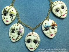 Mask Face Necklace... AMAZING Inspiration from Carole Lassak