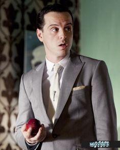 Andrew Scott as Jim Moriarty from Sherlock (BBC) Sherlock Moriarty, James Moriarty, Sherlock Fandom, Sherlock Quotes, Sherlock Season, Watson Sherlock, Sherlock John, Sherlock Poster, Funny Sherlock