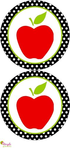 Apple activities: Back to School Banner by Dimple Prints. Also includes uppercase letters. FREE download.