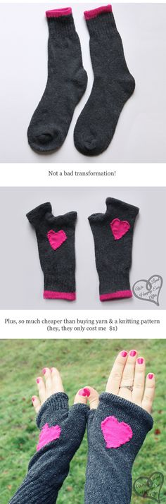 convierte tus calcetines en guantes coquetos