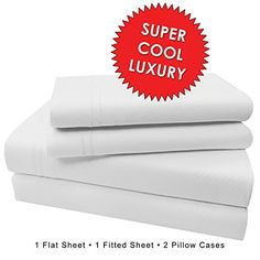 "Microfiber Bed Sheet Set, SLEEP BETTER THAN EVER, Premium COOL Ultra Soft Luxury 15"" DEEP POCKETS on fitted sheet - Egyptian Quality 1600 Series Collection My Perfect Nights (4 piece QUEEN, WHITE) //http://bestadjustablebed.us/product/microfiber-bed-sheet-set-sleep-better-than-ever-premium-cool-ultra-soft-luxury-15-deep-pockets-on-fitted-sheet-egyptian-quality-1600-series-collection-my-perfect-nights-4-piece-queen-white/"
