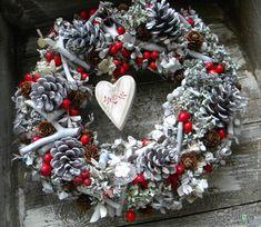 <span>V severském stylu - zimní - vánoční věnec | <a…