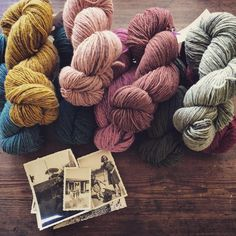 """""""What I brought home from Lisbon: Portuguese wool and pictures of dog lovers from the flea market #feiradaladra. And dreams of a slow life."""""""