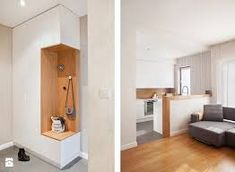 Похожее изображение Flur Design, Hall Design, Apartment Interior, Apartment Design, Foyer Storage, Fitted Cabinets, Small Appartment, Transition Flooring, Hallway Designs