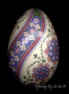 Ring Around The Rosie Ukrainian Easter Egg Pysanky By So Jeo