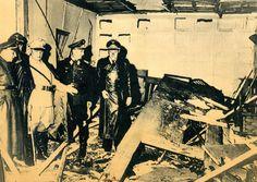 Stauffenbergs Attentat auf Hitler - Kurz nach der Explosion: Reichsmarschall Göring u. a. besehen sich den Attentatsort. Der Kartentisch rettete Hitlers Leben. Mehr dazu hier: http://www.nachrichten.at/nachrichten/politik/aussenpolitik/Der-Mann-der-Hitler-wegbomben-wollte;art391,1444971 (Bild: Archiv)