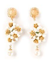 Dolce & Gabbana - dropped floral earrings