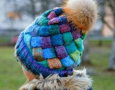 Ravelry: Attention Entrelac Hat pattern by Raina K
