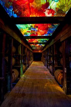 Dale Chihuly's first Kentucky exhibition at the Makers Mark distillery.