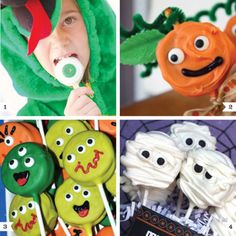 Oreo pops can be decorated so many ways! Turn Oreo cookies into frightfully fun and kid-friendly Halloween party food.