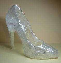 サランラップでシンデレラの靴