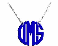 Monogram Necklace Acrylic Necklace | MollysMonograms - Jewelry on ArtFire