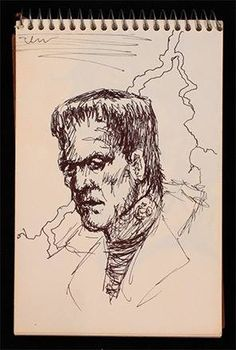 Art by Michael...I've loved the story of Frankenstein my whole life! Looks like Michael did too ^_^
