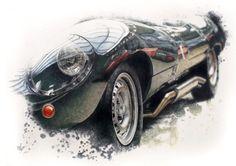 photorealistic vintage car drawing by monika godsmark (2)