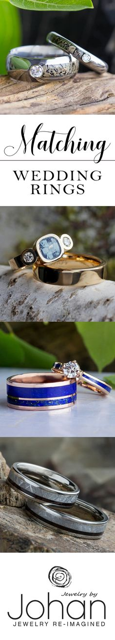 You've found your perfect match, now you need to find his and hers rings that perfectly express your style. Our custom wedding ring sets feature some of the most unique men's wedding bands.