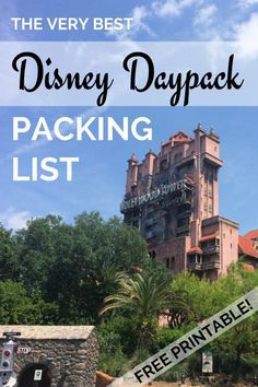 Packing List for Your Disney Daypack (Free Printable!): Everything you might need to pack in your backpack purse or diaper bag for a day at Disney World or Disneyland. Electronics snacks baby supplies and more. Disneyland 2016, Disneyland Vacation, Disneyland California, Disney Vacations, Disney Trips, Disneyland Backpack, Disneyland Countdown, Disneyland Ideas, Disneyland Secrets